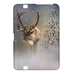Santa Claus Reindeer In The Snow Kindle Fire Hd 8 9  Hardshell Case by gatterwe