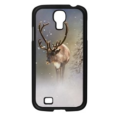 Santa Claus Reindeer In The Snow Samsung Galaxy S4 I9500/ I9505 Case (black) by gatterwe