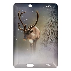 Santa Claus Reindeer In The Snow Amazon Kindle Fire Hd (2013) Hardshell Case by gatterwe