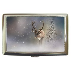 Santa Claus Reindeer In The Snow Cigarette Money Case by gatterwe