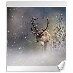 Santa Claus Reindeer In The Snow Canvas 20  X 24  by gatterwe