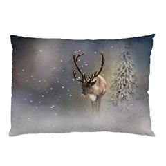 Santa Claus Reindeer In The Snow Pillow Case (two Sides) by gatterwe
