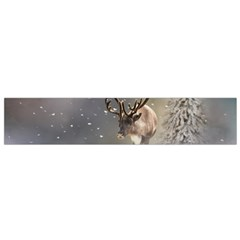 Santa Claus Reindeer In The Snow Flano Scarf (small) by gatterwe