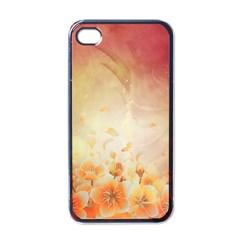 Flower Power, Cherry Blossom Apple Iphone 4 Case (black) by FantasyWorld7