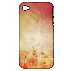 Flower Power, Cherry Blossom Apple Iphone 4/4s Hardshell Case (pc+silicone) by FantasyWorld7