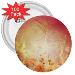 Flower Power, Cherry Blossom 3  Buttons (100 Pack)  by FantasyWorld7