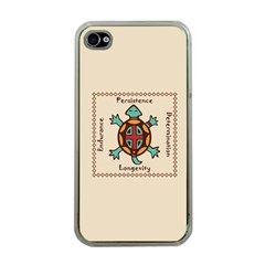 Turtle Animal Spirit Apple Iphone 4 Case (clear) by linceazul