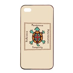 Turtle Animal Spirit Apple Iphone 4/4s Seamless Case (black) by linceazul