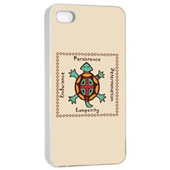 Turtle Animal Spirit Apple Iphone 4/4s Seamless Case (white) by linceazul