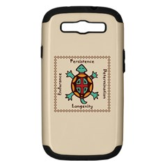 Turtle Animal Spirit Samsung Galaxy S Iii Hardshell Case (pc+silicone) by linceazul