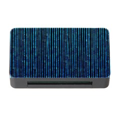 Stylish Abstract Blue Strips Memory Card Reader With Cf by gatterwe