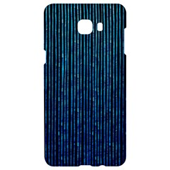 Stylish Abstract Blue Strips Samsung C9 Pro Hardshell Case  by gatterwe