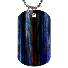 Stylish Colorful Strips Dog Tag (one Side) by gatterwe