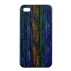 Stylish Colorful Strips Apple Iphone 4/4s Seamless Case (black) by gatterwe