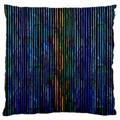 Stylish Colorful Strips Large Cushion Case (one Side) by gatterwe