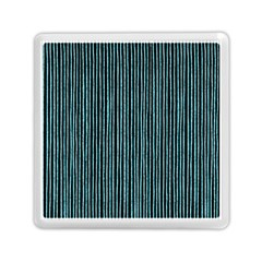 Stylish Frost Blue Strips Memory Card Reader (square)  by gatterwe