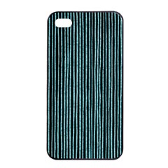 Stylish Frost Blue Strips Apple Iphone 4/4s Seamless Case (black) by gatterwe