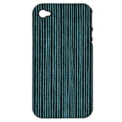 Stylish Frost Blue Strips Apple Iphone 4/4s Hardshell Case (pc+silicone) by gatterwe