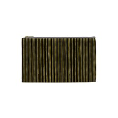 Stylish Golden Strips Cosmetic Bag (small)  by gatterwe