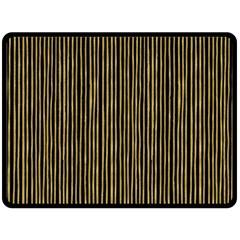 Stylish Golden Strips Double Sided Fleece Blanket (large)  by gatterwe