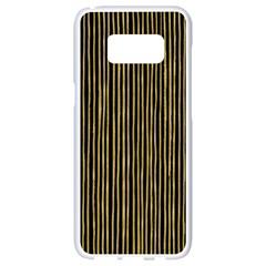 Stylish Golden Strips Samsung Galaxy S8 White Seamless Case by gatterwe