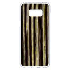 Stylish Golden Strips Samsung Galaxy S8 Plus White Seamless Case by gatterwe