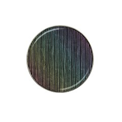 Stylish Rainbow Strips Hat Clip Ball Marker (10 Pack) by gatterwe
