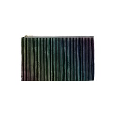 Stylish Rainbow Strips Cosmetic Bag (small)  by gatterwe
