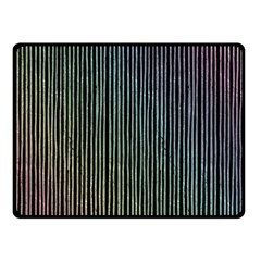 Stylish Rainbow Strips Double Sided Fleece Blanket (small)  by gatterwe