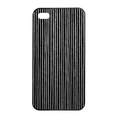 Stylish Silver Strips Apple Iphone 4/4s Seamless Case (black) by gatterwe