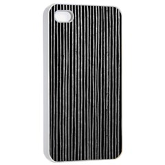 Stylish Silver Strips Apple Iphone 4/4s Seamless Case (white) by gatterwe