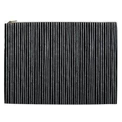 Stylish Silver Strips Cosmetic Bag (xxl)  by gatterwe