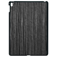Stylish Silver Strips Apple Ipad Pro 9 7   Black Seamless Case by gatterwe