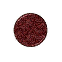 Red Glitter Look Floral Hat Clip Ball Marker (4 Pack) by gatterwe