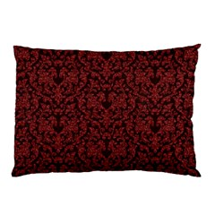 Red Glitter Look Floral Pillow Case (two Sides) by gatterwe