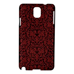 Red Glitter Look Floral Samsung Galaxy Note 3 N9005 Hardshell Case by gatterwe