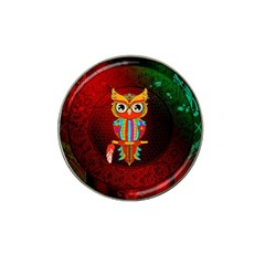 Cute Owl, Mandala Design Hat Clip Ball Marker by FantasyWorld7