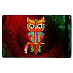 Cute Owl, Mandala Design Apple Ipad 3/4 Flip Case by FantasyWorld7