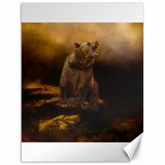 Roaring Grizzly Bear Canvas 18  X 24   by gatterwe