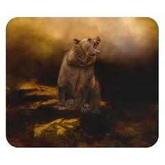 Roaring Grizzly Bear Double Sided Flano Blanket (small)  by gatterwe
