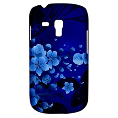 Floral Design, Cherry Blossom Blue Colors Galaxy S3 Mini by FantasyWorld7
