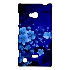Floral Design, Cherry Blossom Blue Colors Nokia Lumia 720 by FantasyWorld7