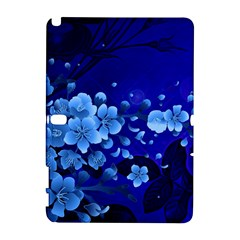 Floral Design, Cherry Blossom Blue Colors Galaxy Note 1 by FantasyWorld7
