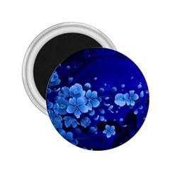 Floral Design, Cherry Blossom Blue Colors 2 25  Magnets by FantasyWorld7