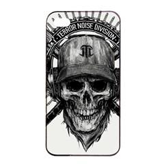 Skull Helmet Drawing Apple Iphone 4/4s Seamless Case (black) by amphoto