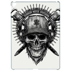 Skull Helmet Drawing Apple Ipad Pro 12 9   Hardshell Case by amphoto
