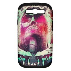 Skull Shape Light Paint Bright 61863 3840x2400 Samsung Galaxy S Iii Hardshell Case (pc+silicone) by amphoto