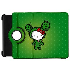Vector Cat Kitty Cactus Green  Kindle Fire Hd 7  by amphoto
