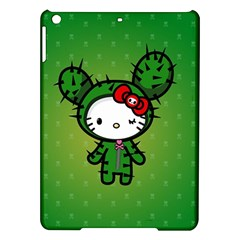 Vector Cat Kitty Cactus Green  Ipad Air Hardshell Cases by amphoto