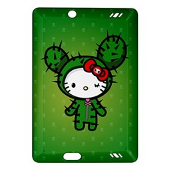 Vector Cat Kitty Cactus Green  Amazon Kindle Fire Hd (2013) Hardshell Case by amphoto